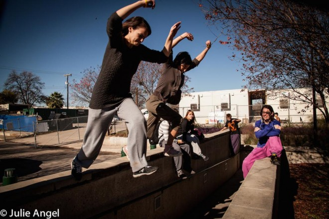2 ladies on a wall break jumpIMG_3572 copy small