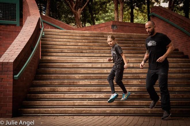 Cameron Sway stair run